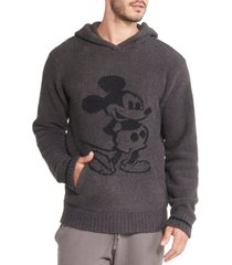 barefoot dreams(r) barefoot dreams mickey mouse hoodie, size xx-large in carbon at nordstrom
