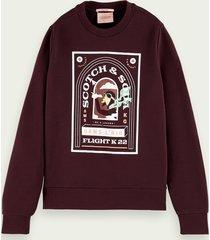 scotch & soda printed organic cotton sweater