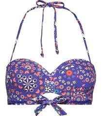 biki bahamas bikinitop blå desigual