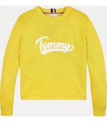 sweater algodón universitario amarillo tommy hilfiger