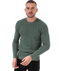 mens crew neck cotton piqué sweatshirt