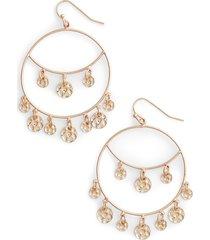 stella + ruby charm hoop earrings in gold at nordstrom