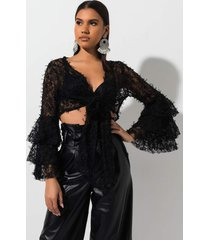 akira more attention lace crop top