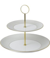 wedgwood arris two-tier cake stand