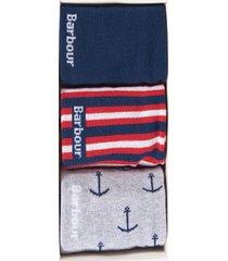 barbour men's nautico 3 pack socks