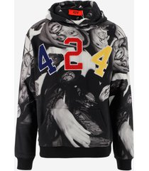 424 designer sweatshirts, wu-tang clan printed cotton men's hoodie
