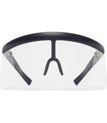 mykita visor-style sunglasses - white