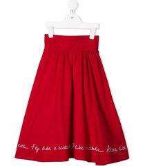 raspberry plum isidora skirt - red