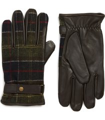 men's barbour newbrough gloves, size medium - brown