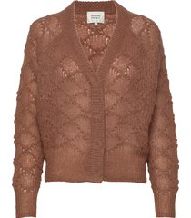 palm knit cardigan gebreide trui cardigan bruin second female