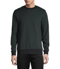 boss hugo boss men's stadler two-tone sweatshirt - green - size xxl