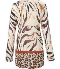 pyjama met tijger- en luipaardmotieven van hutschreuther beige