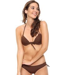 bikini marrón lecol talles reales daniela