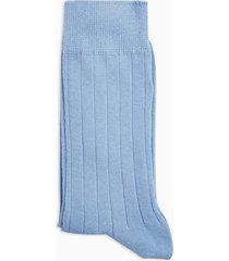 mens blue ribbed socks