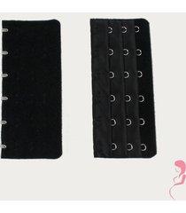 op en top zwanger beha / corset verlenger 6 haaks zwart (per stuk)