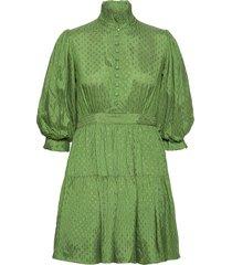 delicate mini tulle dress kort klänning grön by ti mo