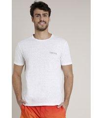 camiseta masculina triya pranchas de surf manga curta gola careca branca