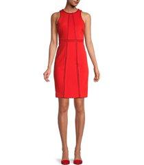 toccin women's sleeveless mesh dress - persimmon - size 8