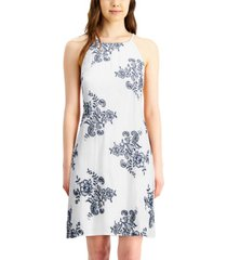 bcx juniors' floral embroidered dress