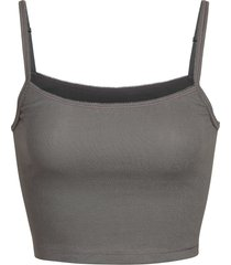 women's skims logo ribbed camisole, size medium - grey