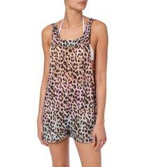 juliet dunn tie dye leopard print dungareenies