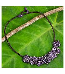 amethyst beaded necklace, 'a sense of nature' (thailand)