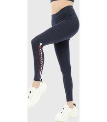 leggings azul navy-blanco-rojo tommy hilfiger sports