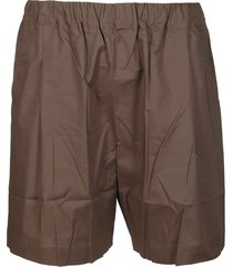 army green cotton shorts