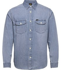 worker shirt overhemd casual blauw lee jeans