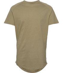 jjecurved tee ss o-neck noos t-shirts short-sleeved grön jack & j s