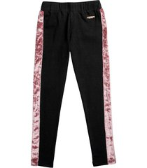 legging negro estilo rosa cinta