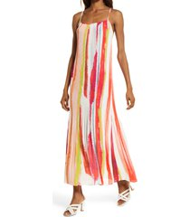bb dakota by steve madden bb dakota bon voyage print maxi dress, size small in multi at nordstrom