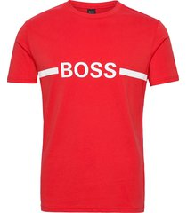 t-shirt rn slim fit t-shirts short-sleeved röd boss