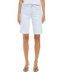 l'agence taylor high waist cutoff denim bermuda shorts, size 27 in bleach down at nordstrom