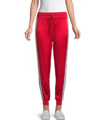 the kooples women's logo jogger pants - red - size 2 (m)