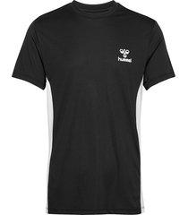 hmleino t-shirt s/s t-shirts short-sleeved svart hummel
