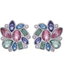 t tahari candied floral button clip earring
