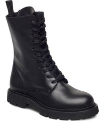 krisha laced boot shoes boots ankle boots ankle boot - flat svart filippa k