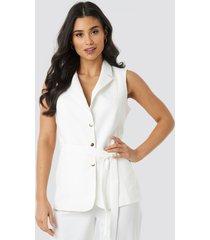 trendyol belt detailed vest - white