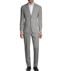 michael kors men's tonal pattern wool suit - light grey - size 40 r