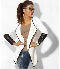 new spring fashion women leather long sleeve knitted cardigan coat thin coat jac