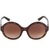 53mm round tortoise sunglasses