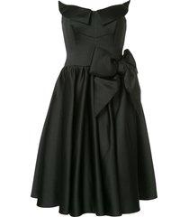 moschino sculpted satin prom dress - black