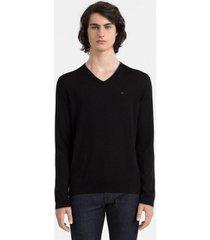 sweater negro calvin klein smith vneck
