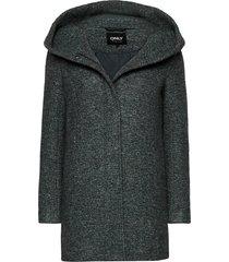 onlsedona boucle wool coat otw noos wollen jas lange jas groen only
