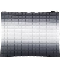 no ka' oi oversized padded clutch bag - grey