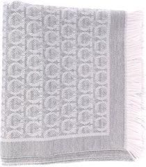 salvatore ferragamo gancini motif wool scarf