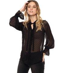 blusa negra asterisco helena