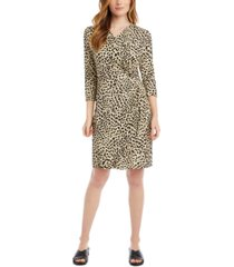 karen kane cascade wrap dress