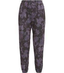 onzie women's fleece sweatpants - amethyst tie dye sm